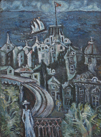 Коваленко Ю. Город у моря 115х85 см. холст, масло 1972 г.
