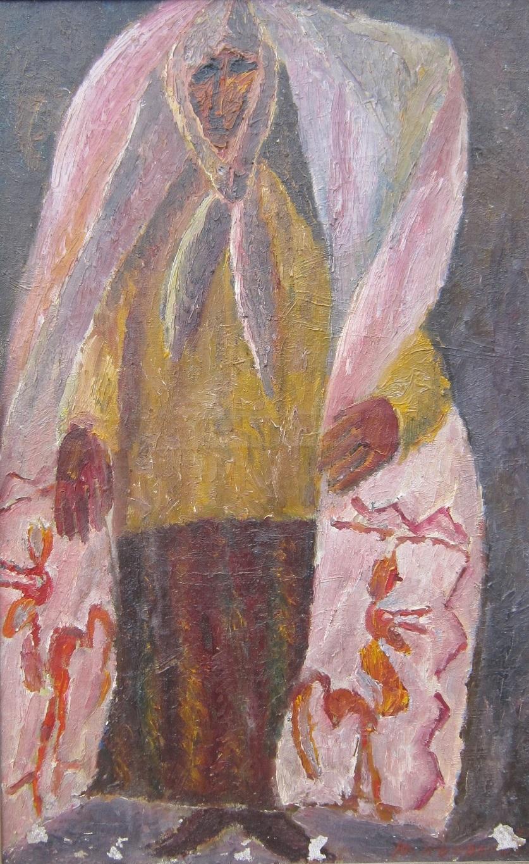 Коваленко Ю. Женщина с полотенцем 94х58 см. холст, масло 1971г.