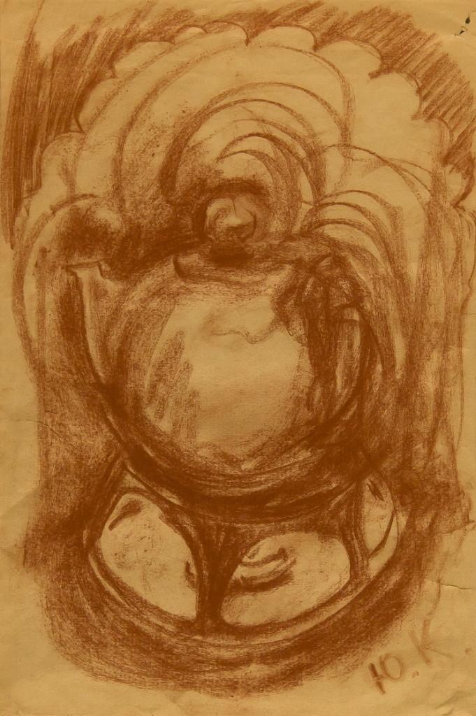 """""""Чайник"""", натюрморт, 28х41, работа из частной коллекции Сергея Костина (галерея «Ника»)"""