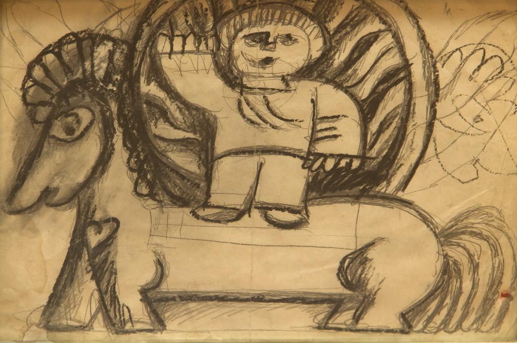 """""""На коне"""", фигуративизм, 32х22, работа из частной коллекции Сергея Костина (галерея «Ника»)"""