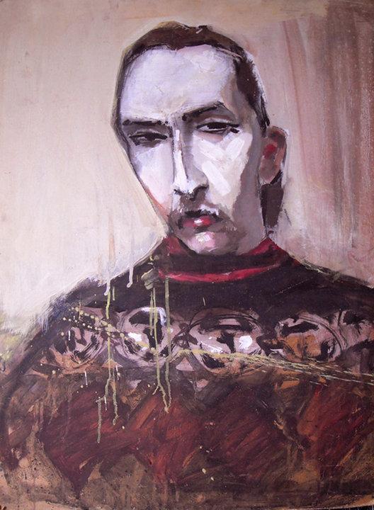 """Хрущ В., """"Войцехов Леонид"""", портрет, 61x85 см, из частной коллекции С. Костина"""