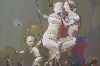"""""""Любовь"""", Василий Рябченко, х/м, 90х85, 1991 г."""
