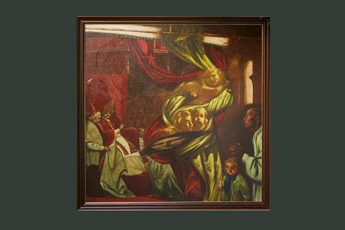 "Сергей Лыков, ""Элегия"" 160х170 см, х/м,1989 г."