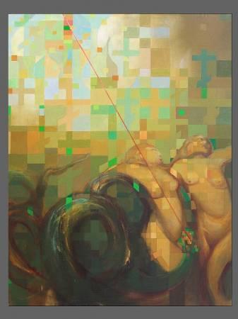 """Сергей Лыков, """"Бронзовый реликварий"""", х/м, 150х200, 1987 г."""