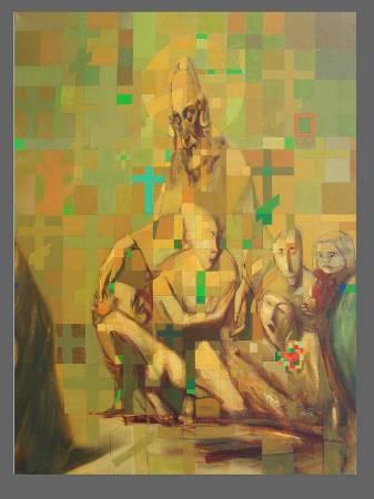 """""""Бронзовый реликварий"""", Сергей Лыков, х/м, 150х200, 1987 г."""