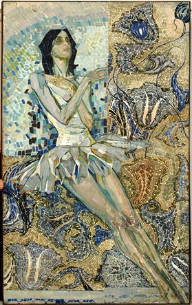 """Гегамян В., """"Белый лебедь"""", 270х180 см, х/м. 60-е гг. Из частной коллекции."""