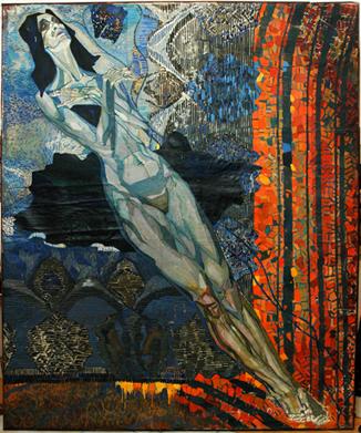 """Гегамян В., """"Черный лебедь"""", 250х230 см, х,м. 60-е г.г."""