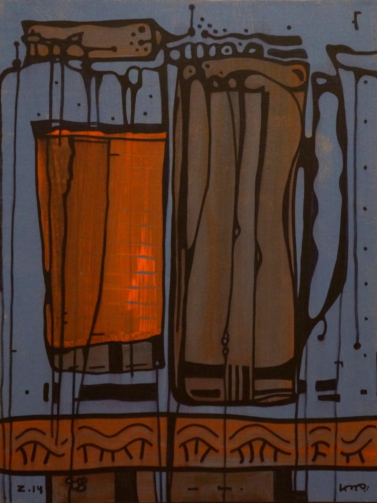 """Ю. Закордонец, """"Натюрморт с кружкой"""", холст, акрил, 80х60 см, 2014 г."""