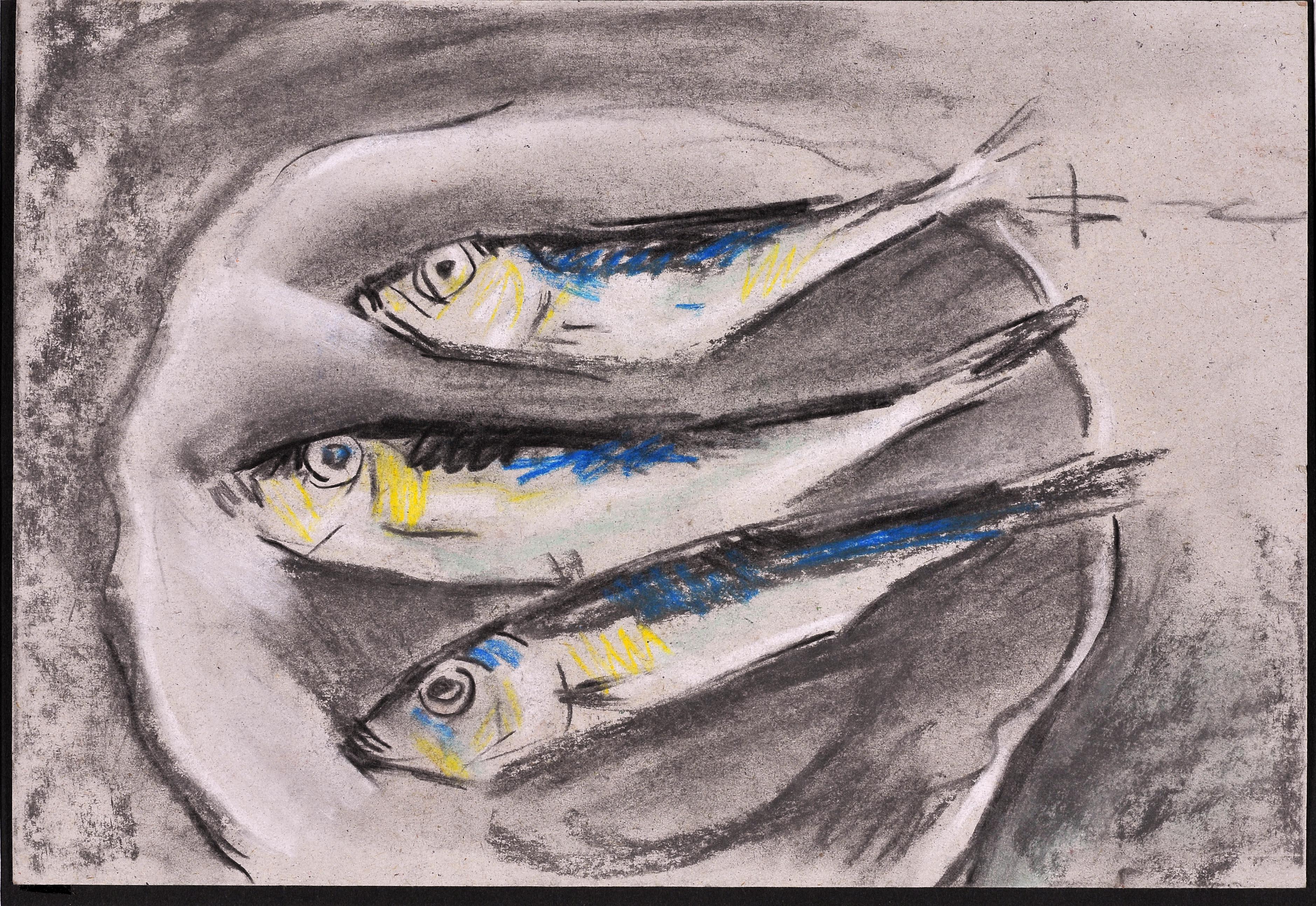 В.Хрущ Рыбки. 2000. Б.,см.т. 20,3 х 29,6. Одесса, Б/см.т. Одесса, Галерея NT-Art