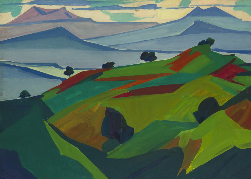 """В. Гегамян, """"Природа"""", пейзаж, 86х64"""