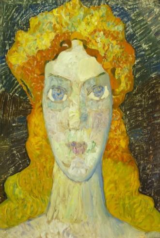 """В. Гегамян, """"Взгляд"""" портрет, 61х87, из частной коллекции Сергея Костина, галеря """"Ника"""""""