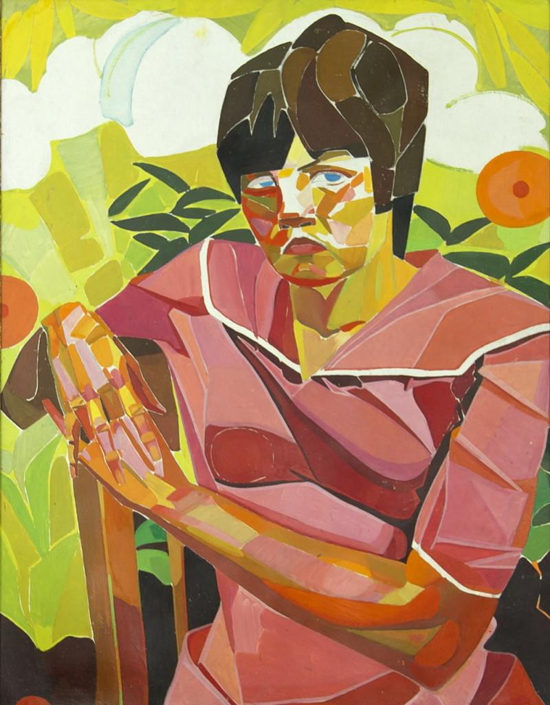 """В. Гегамян, """"Сидящая женщина"""", портрет, 80х100"""