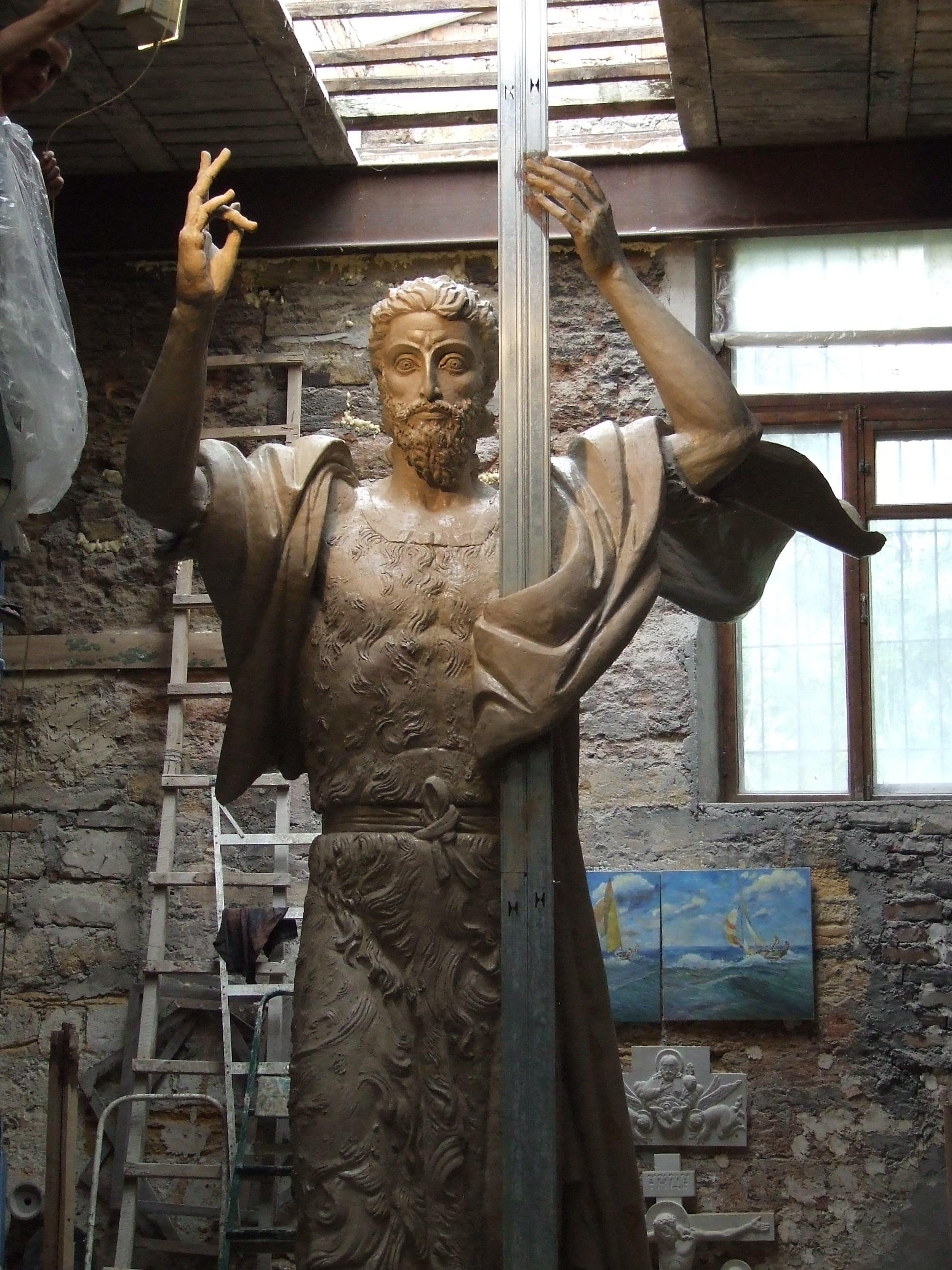 Скульптура Иоанна Крестителя. Бронза, 2013. Днепропетровск.