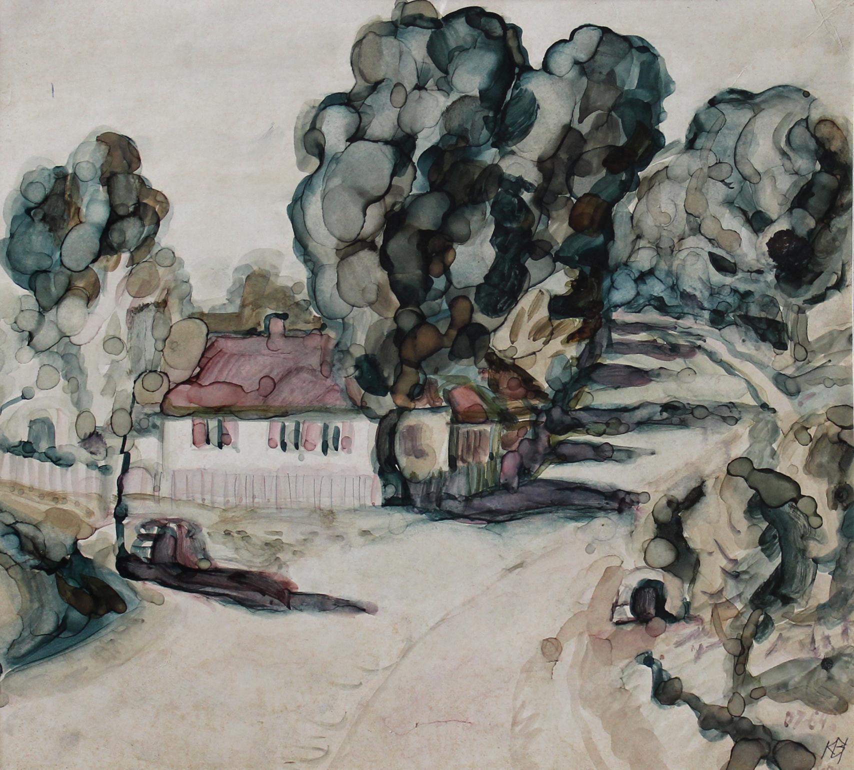 """Владимир Кобылинский, """"Пейзаж"""". 1964 г."""