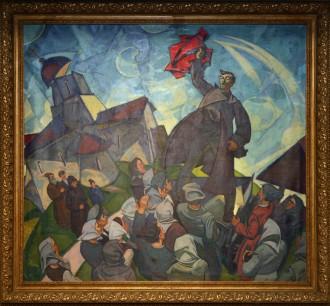 """Владимир Власов """"На площади"""", 1974 г. Из частной коллекции."""
