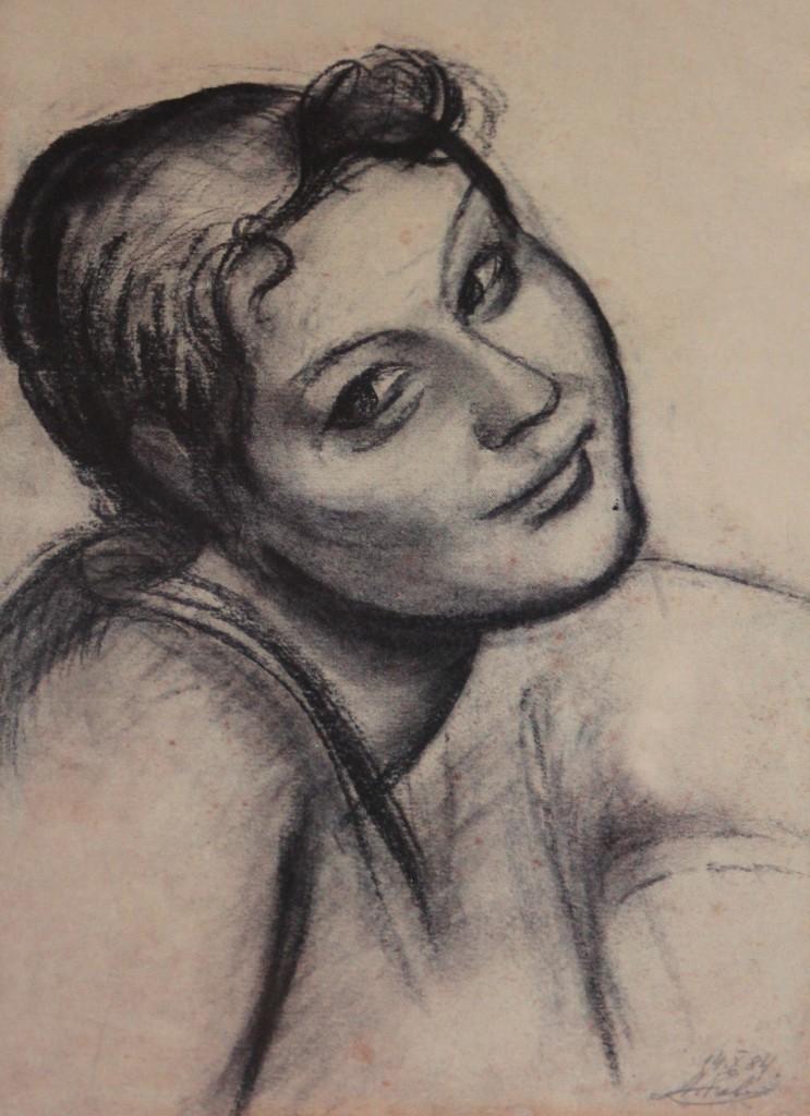 А. Коваль, бумага, уголь, 1984 г.