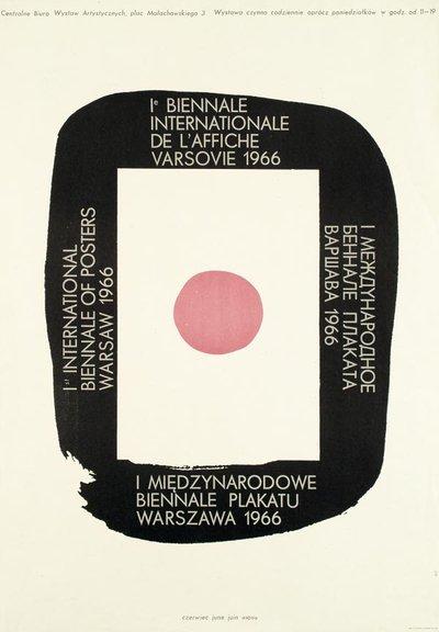 Постер первой Международной биеннале плаката в Варшаве, 1966 г.