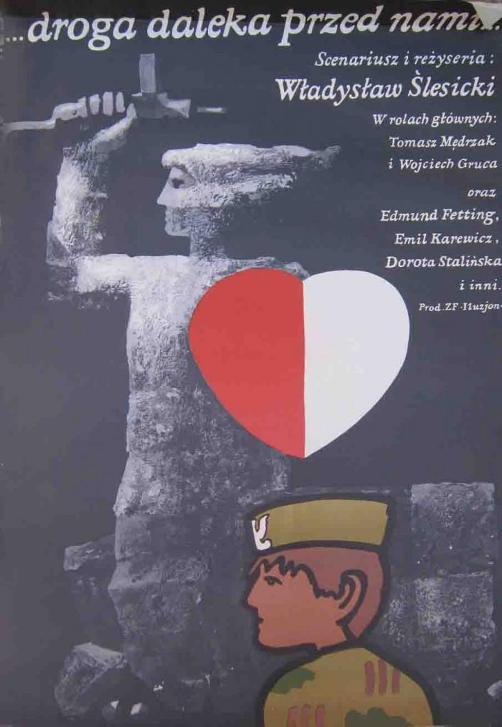Ян Младоженец (Jan Mlodozeniec). Плакат к фильму «...droga daleka przed nami...» («Перед нами далекая дорога») (1979).