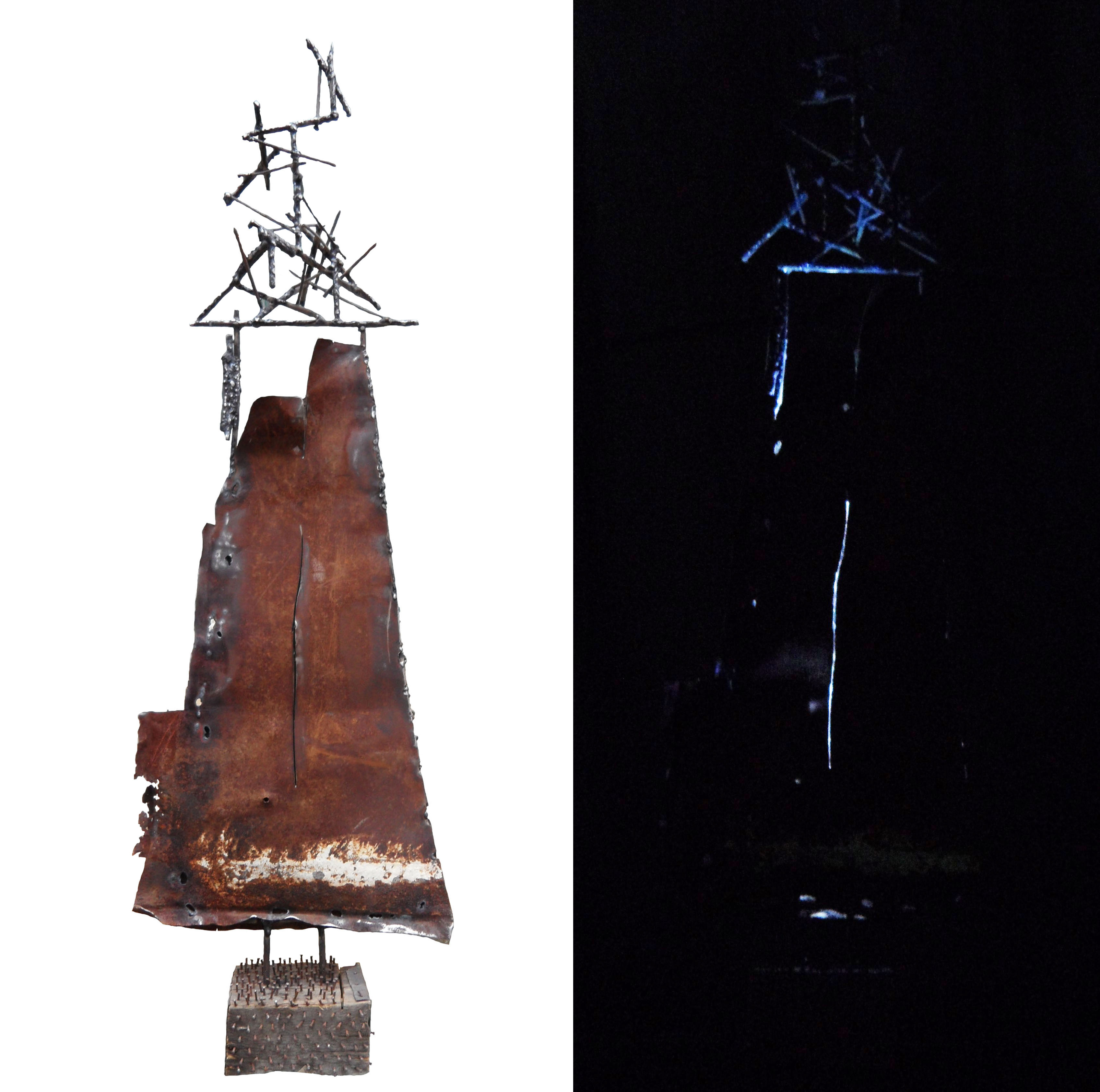 Происхождение, 90х50х30 см, 2016, металл, дерево, сварка