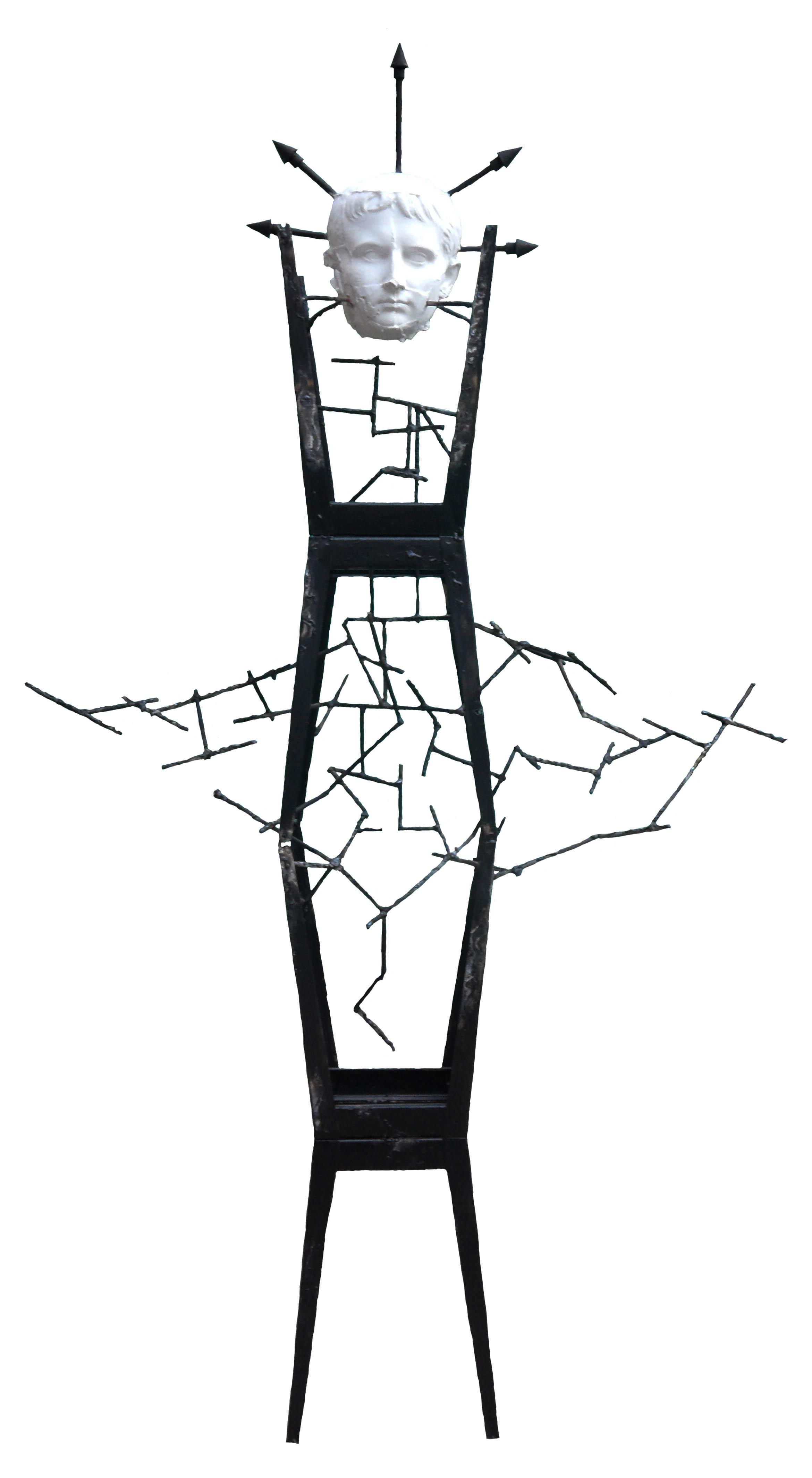 Тысячи теней невозмутимой тишины, 160х100х60 см, 2015, металл, сварка, гипс