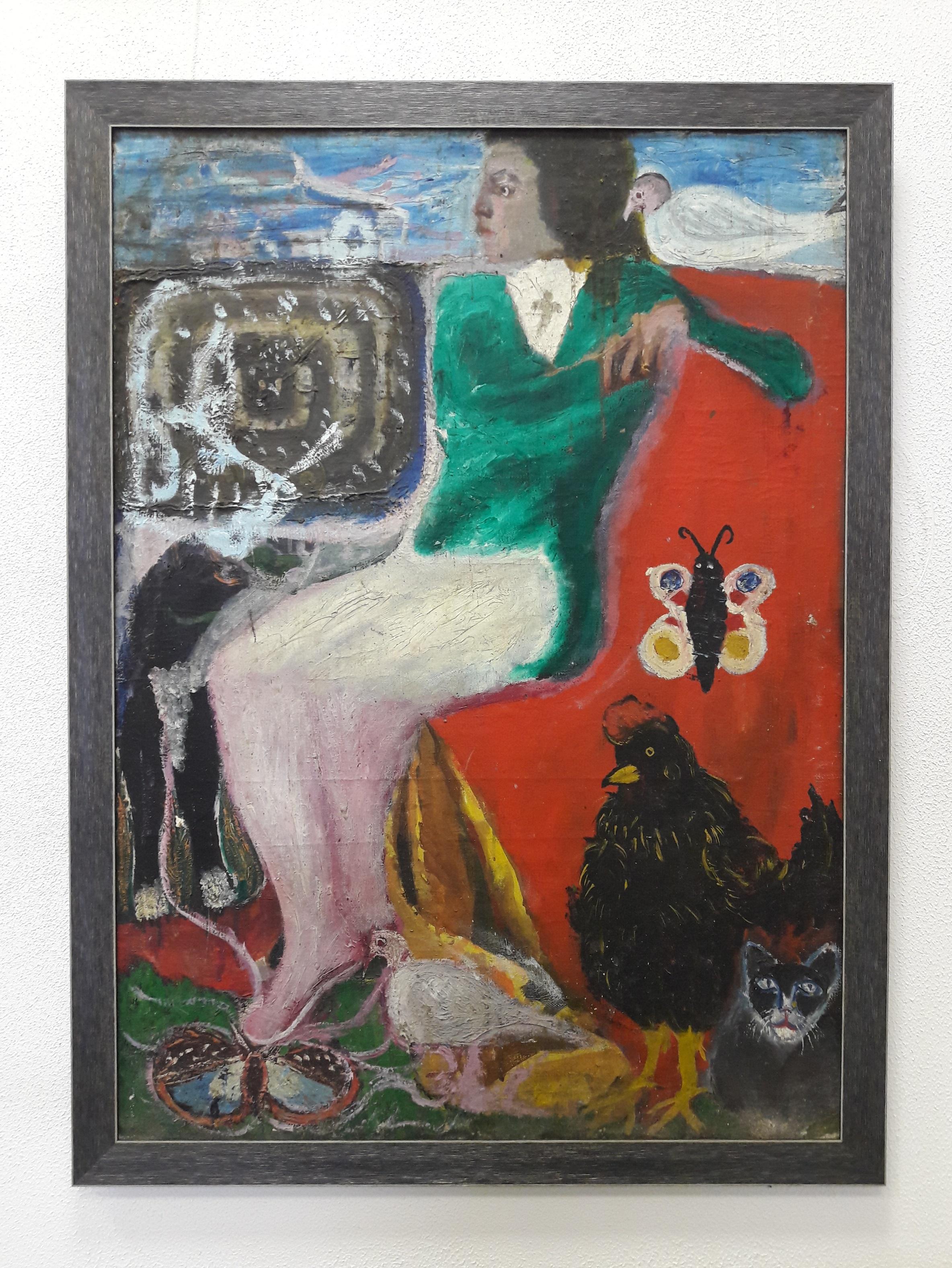Подвойский _Волна_, км, 1992 г (92_66 см) Podvoisky _The Wave_, oil on cardboard, 1992 (92 _ 66 cm)