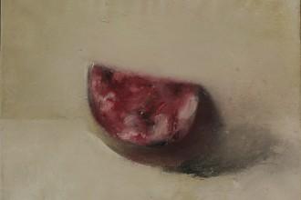 Стас Жалобнюк «Мясо хорошее...» из серии «Requiem», 50 х 70, холст, смешанная техника, 2018.