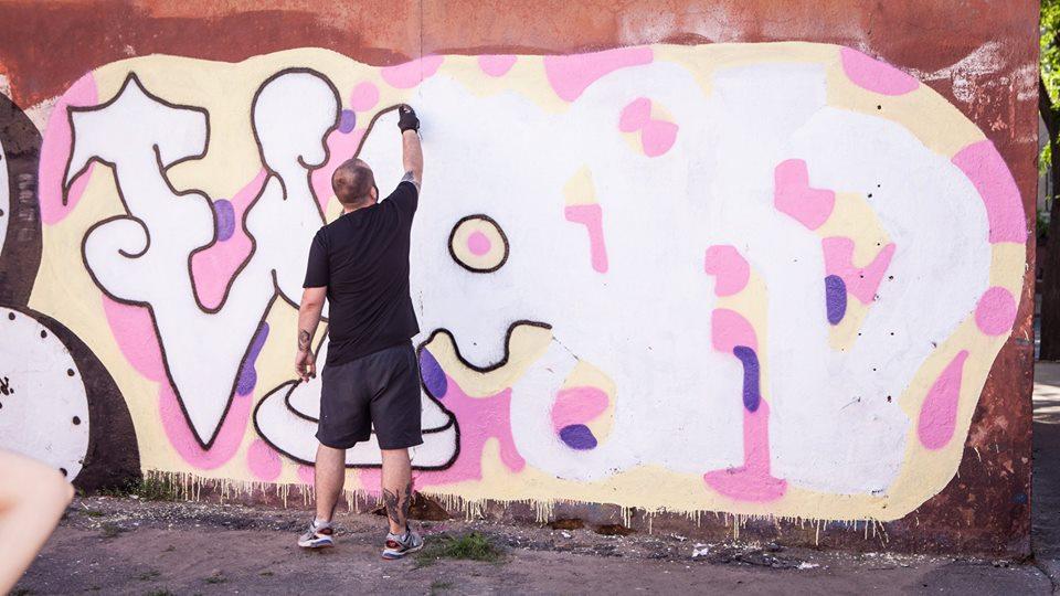 Граффити во дворике ОХМ. Фото Алексей Каташинский. Предоставлено пресс-службой Одесского художественного музея